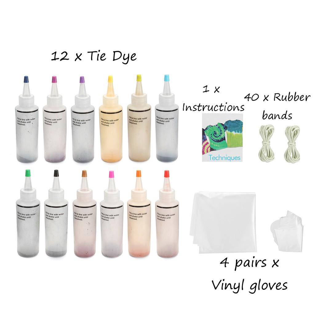 31160cd012fc 12 Colour 2.02oz(57.3g) Bottle Artistic Tie-Dye Kit Super Big - Tulip