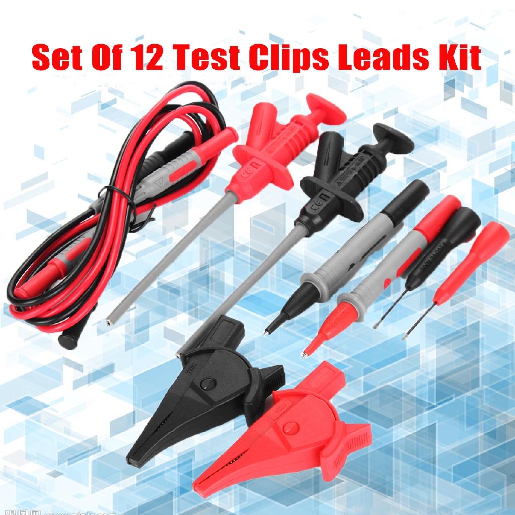 Alligator Clips Agilent//Fluke//Ideal Clamp Cable WM 20A Probe Test Lead