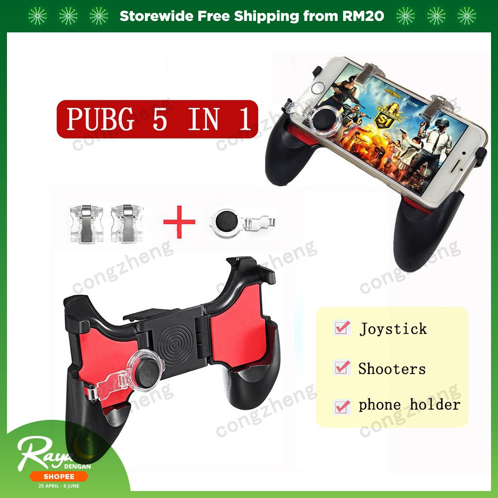 Joysticks Smart W18 Smart Phone Gaming Trigger For Pubg Gamepad Fire Button Aim Key Shooter Handle Grip Controller Game Joystick Accessories