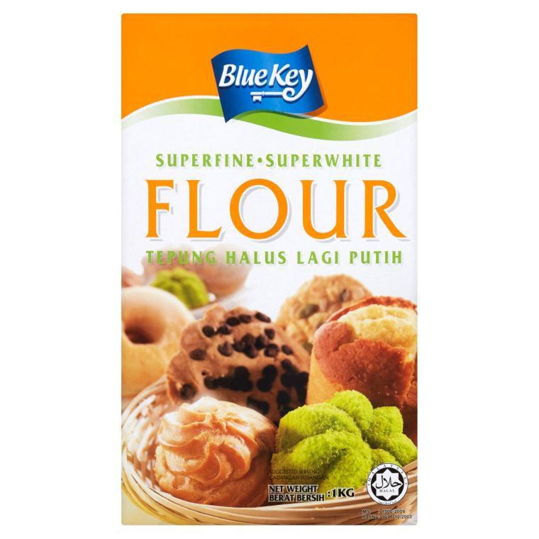 Blue Key Superfine Superwhite Flour (1kg)