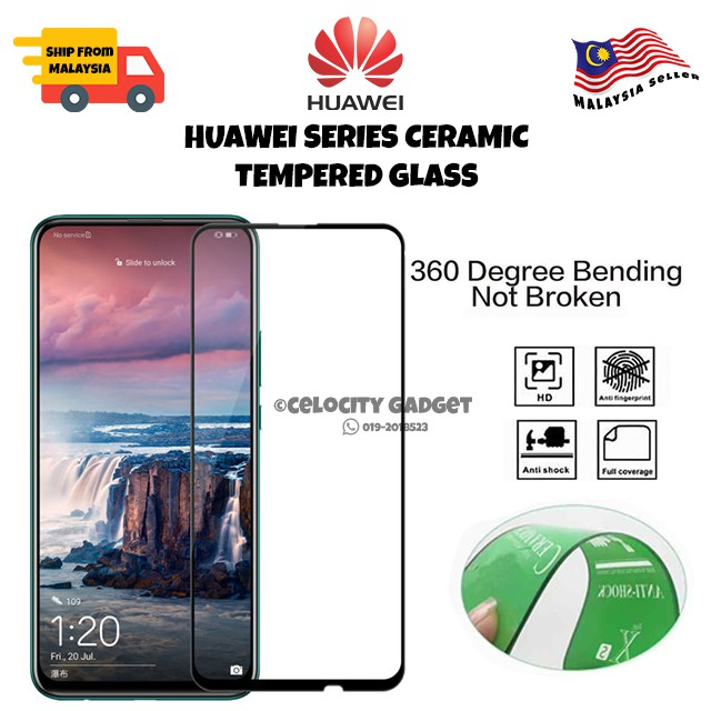 9D Ceramic Tempered Glass For Huawei Nova3i/3e/4e/4/5t/7i/Y92019/Y9Prime2019/Y9s/Y7p/Y6p