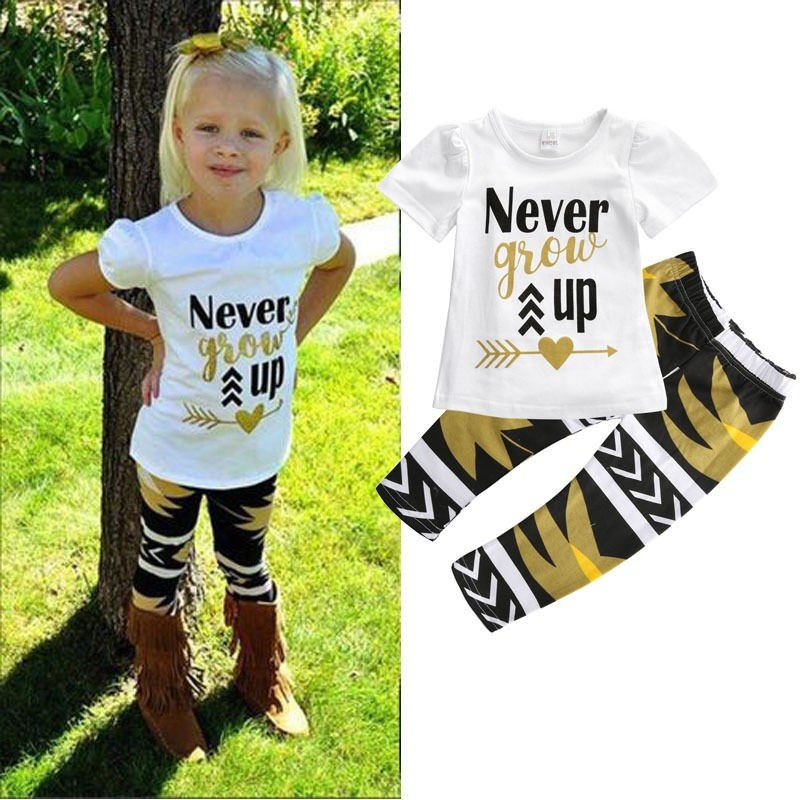 Toddler Baby Kid Boy T Shirt Tops+Long Pants Cartoon Printed Trousers Outfits KL