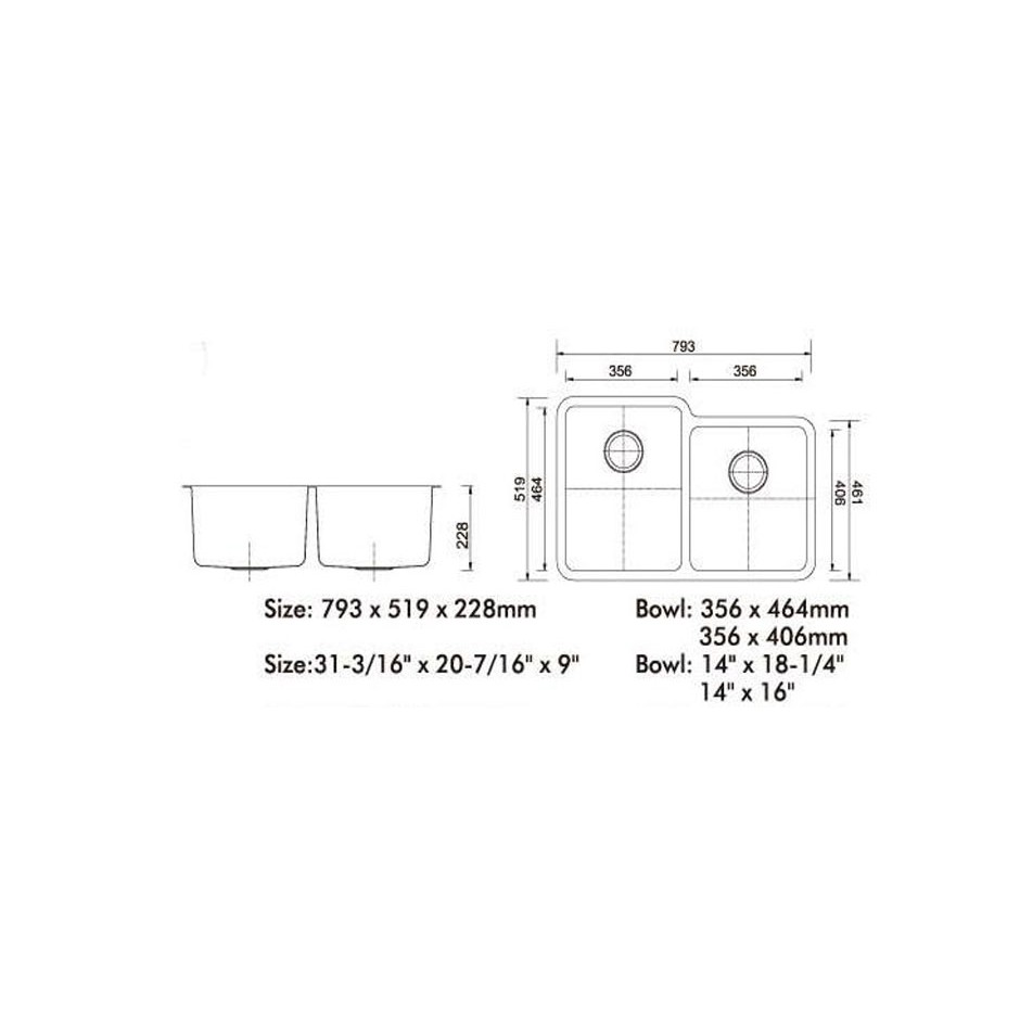 Double Bowl Stainless Steel Sink NKS-984