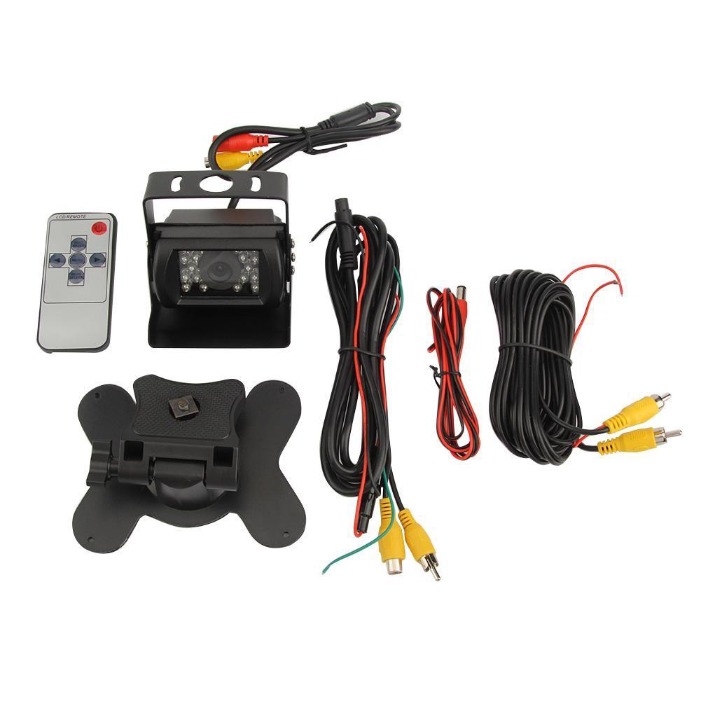 Kelima IP65 18LED IR Night Vision CCD Parking Reverse Camera 7Inch Monitor Tool