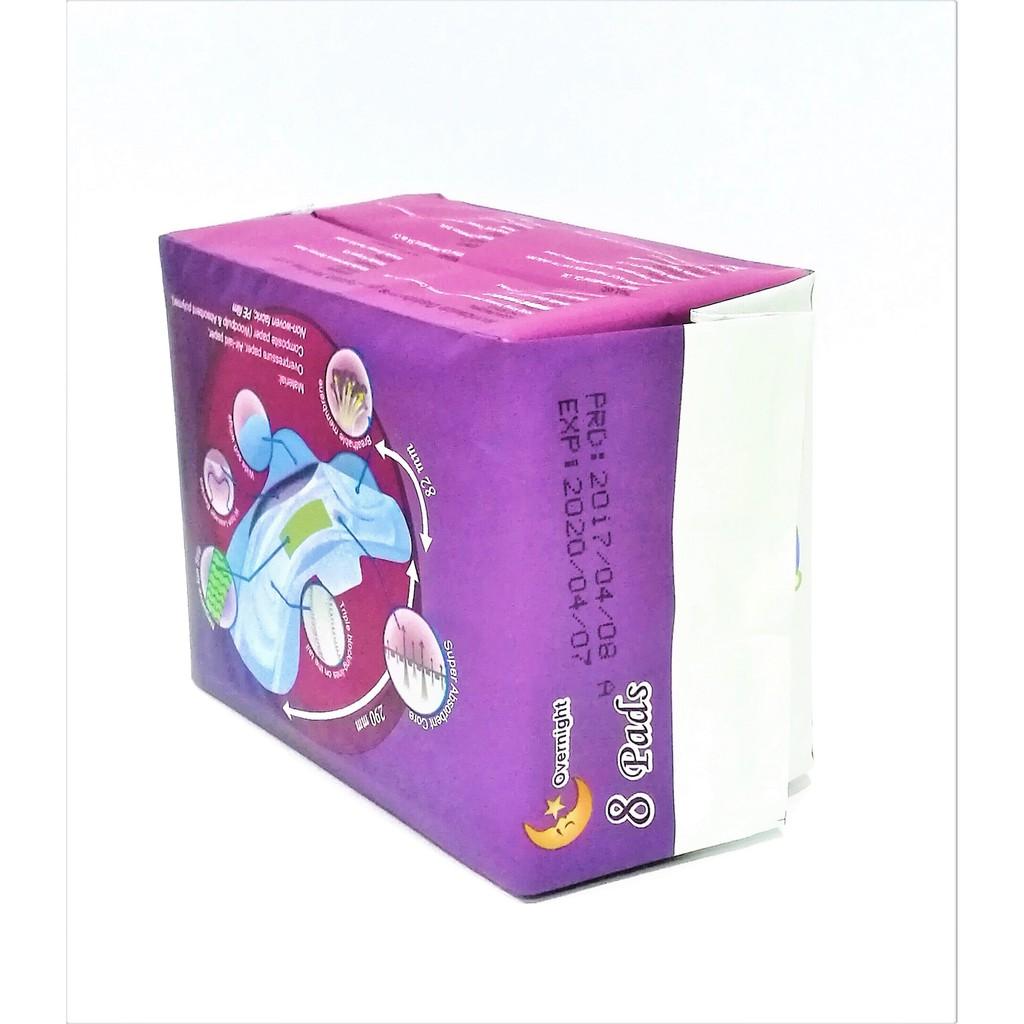 [Genuine] Winalite Winion NIGHT Use Sanitary Napkin With Anion Stripe 1 Pack (8 Pieces) 月月爱