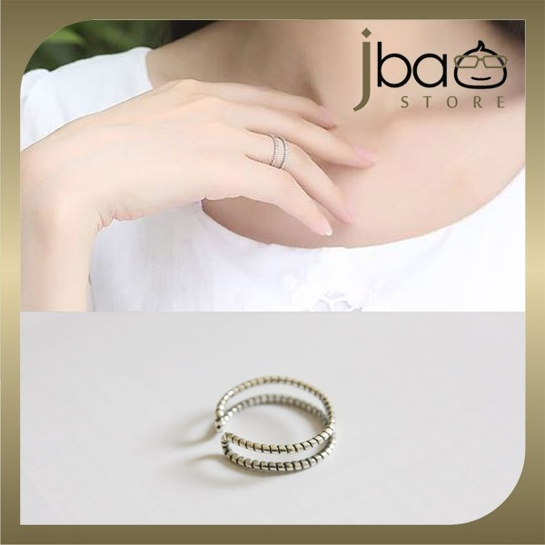 Layers Open Ring 925 Sterling Silver Rings Birthday Valentine Christmas Gift
