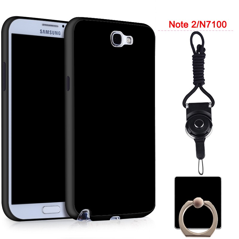 For Samsung Galaxy Note 2/N7100 Silicon Soft Ruber Case (Black)