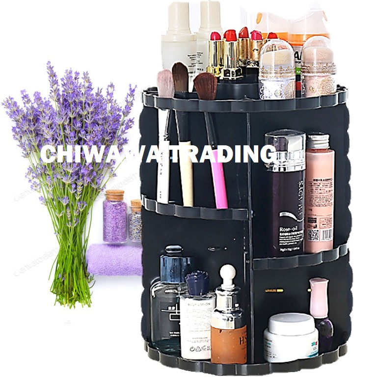 3 Layers Cosmetic & Jewellery Organizer Storage Makeup Box Display Rack