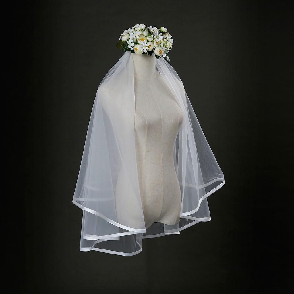 01d7b2ee31940 Deartiara Bridal Veils 1.35m Length White for Weddings
