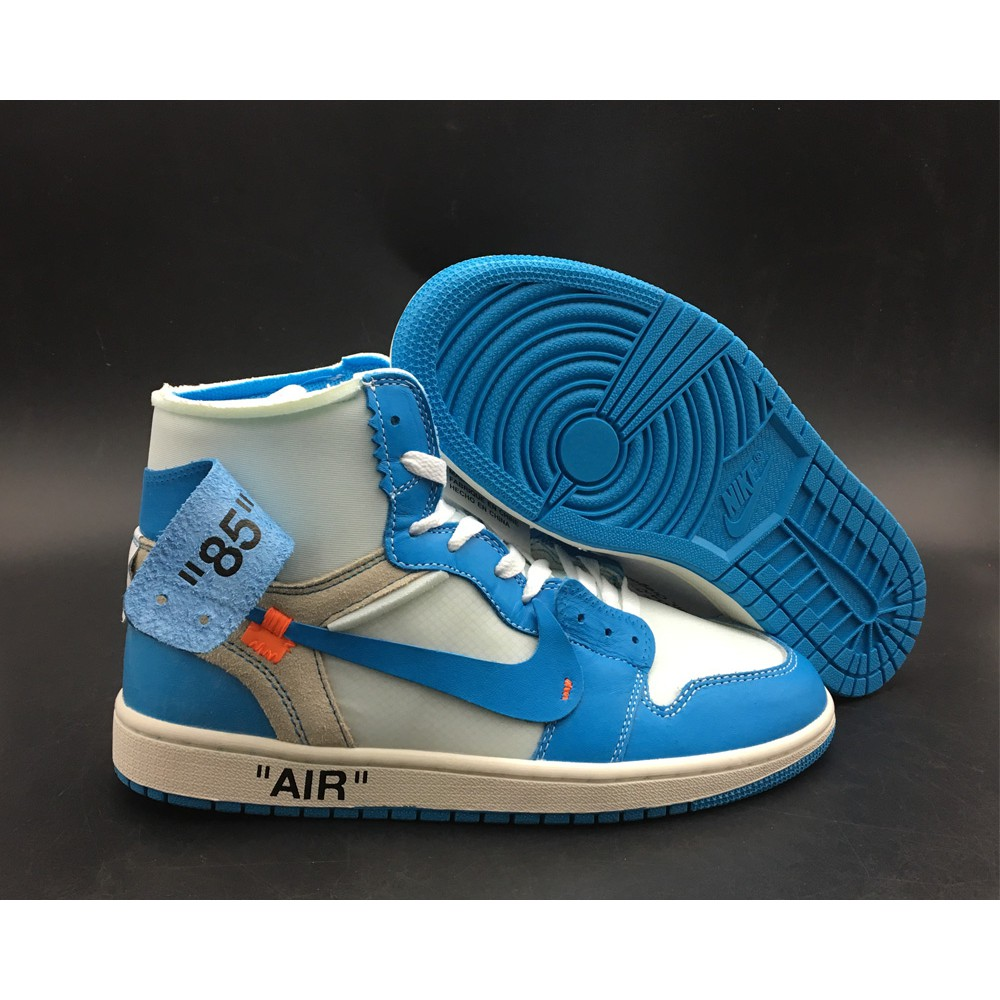 newest 1b178 cf003 Off-White x Air Jordan 1 UNC Dark Powder Blue 2018