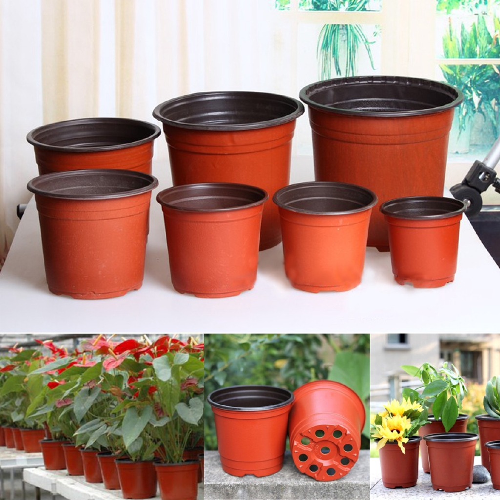 Seed Flower Containers Pack of 20 x Plastic Lightweight Red Plant Pots