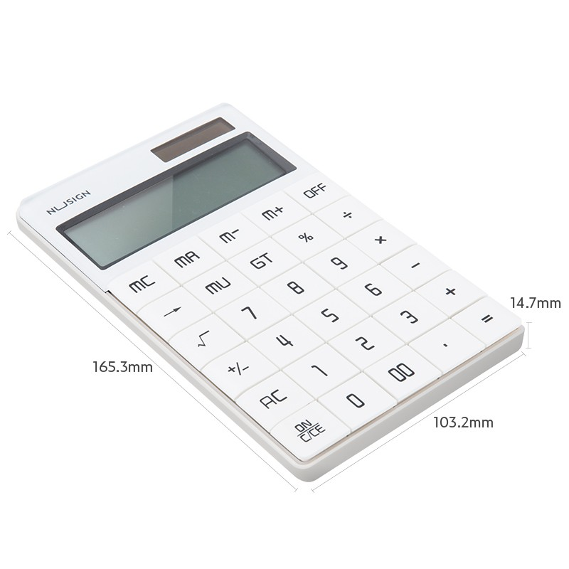 Jadi NuSign Family Pure White Digital Calculator NS041 & Scientific Calculator ED82MS Premium Set