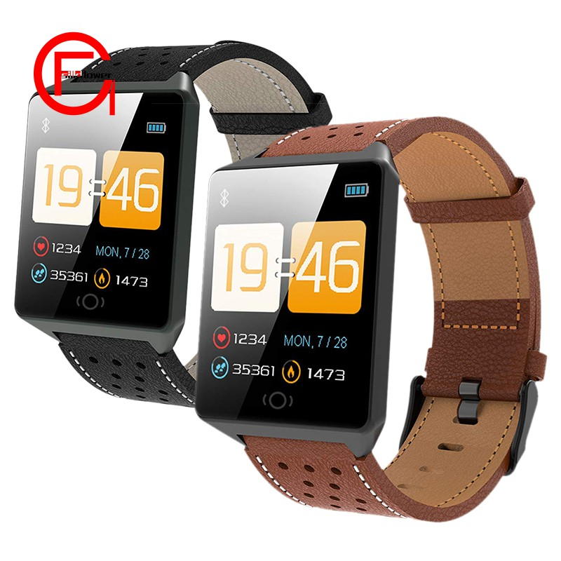 CK19 IP67 Waterproof Wearable Device Bluetooth Pedometer Heart Rate Monitor Color Display Smart