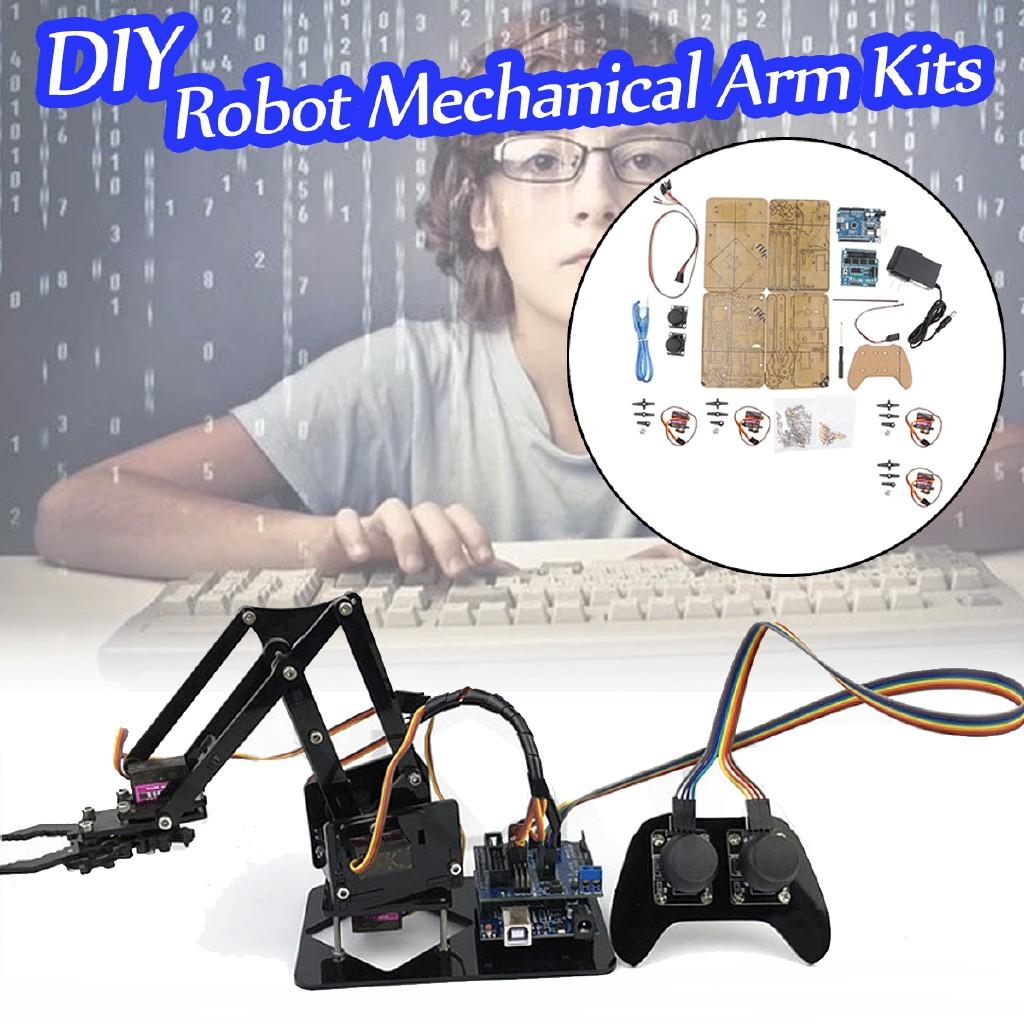 Diy Assembly 4 Dof Robot Arm Ps2 Handle Circuit Kits For Arduino Mechanics