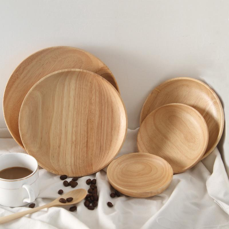 dishes wooden tray oak wood tray practical wood tray