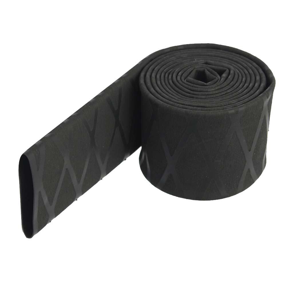 Fishing Rod Heat Handle NonSlip Grip Textured Shrink Tubing Tube Sleeve Overgrip
