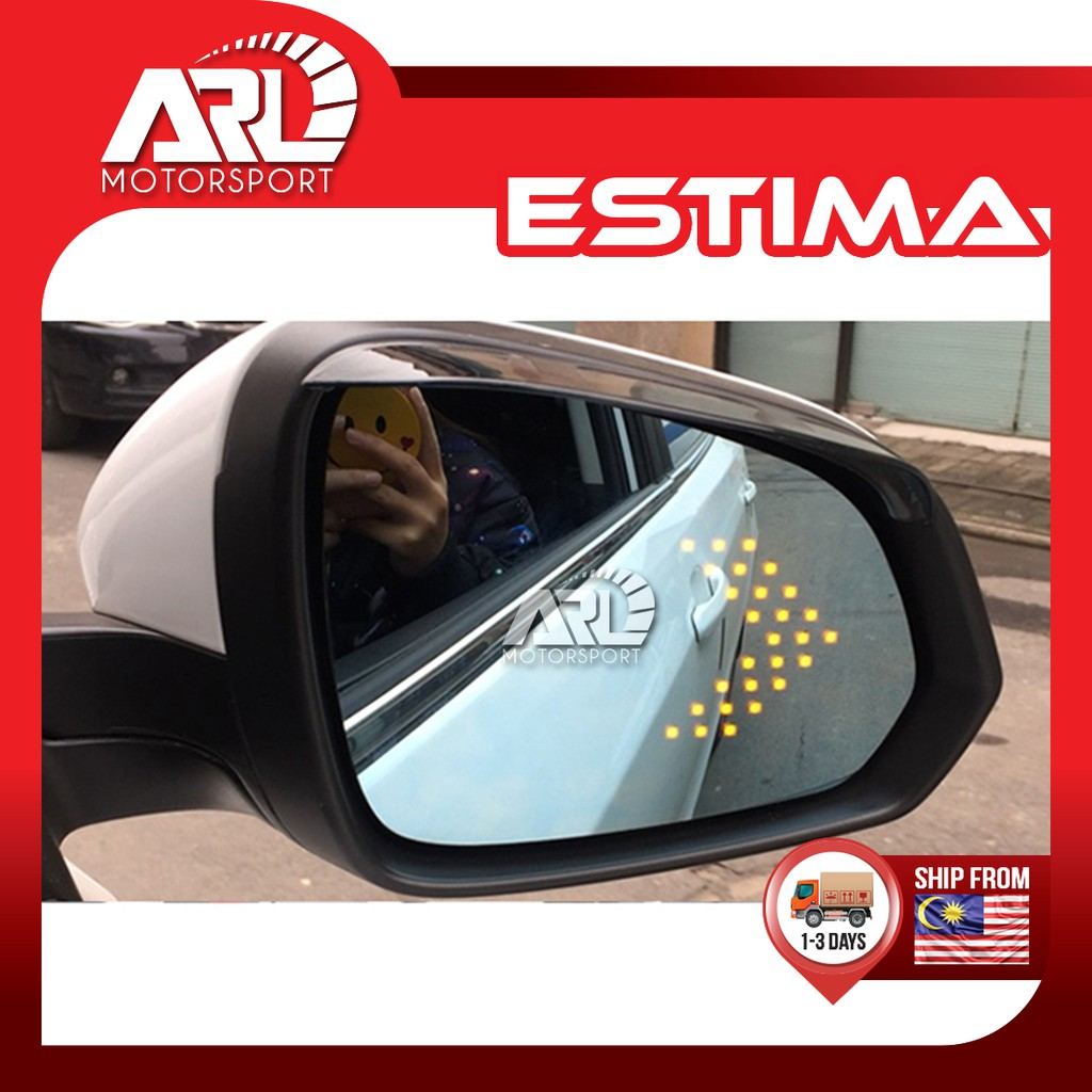 Toyota Estima ACR50 XR50 Blue Mirror with LED Signal Lamp Car Auto Acccessories ARL Motorsport