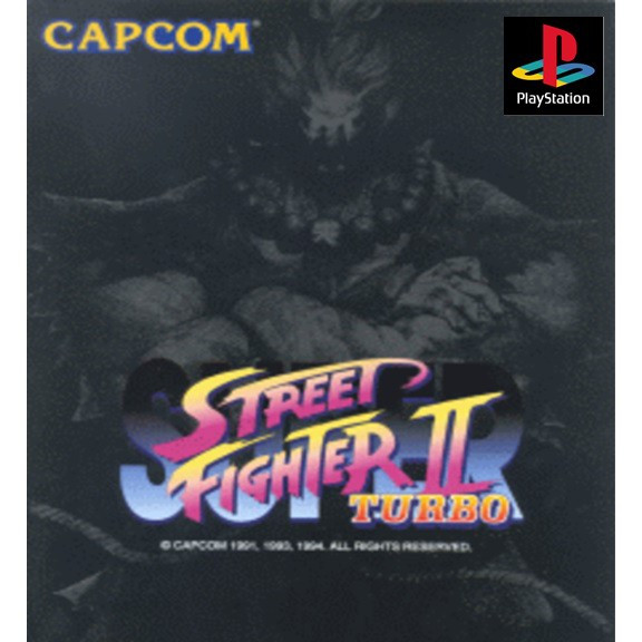 PS1 Game Super Street Fighter 2 Collection, Fighting Game, Multi 2 in 1 Game, English version / PlayStation 1