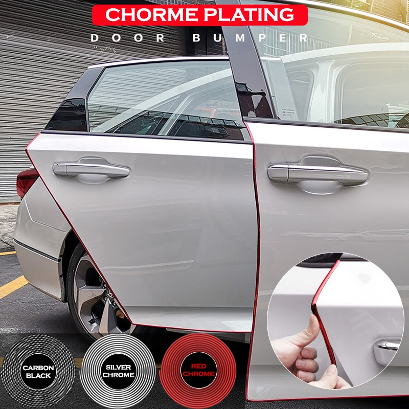 Car Door Edge Guard 10Ft 300cm Chrome Silver Mouldings Trim DIY Protector Strip