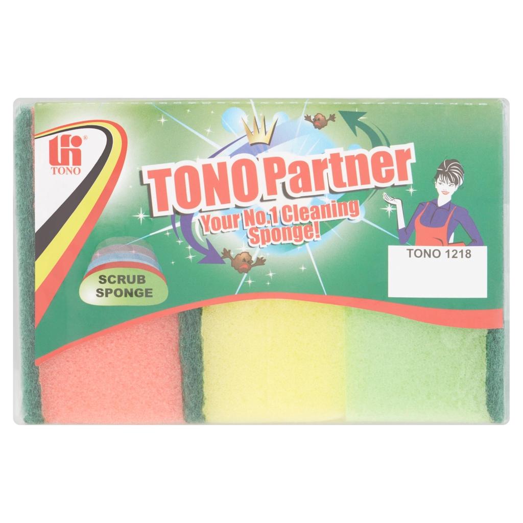 Tono Partner Scrub Sponge 1218 3Pcs