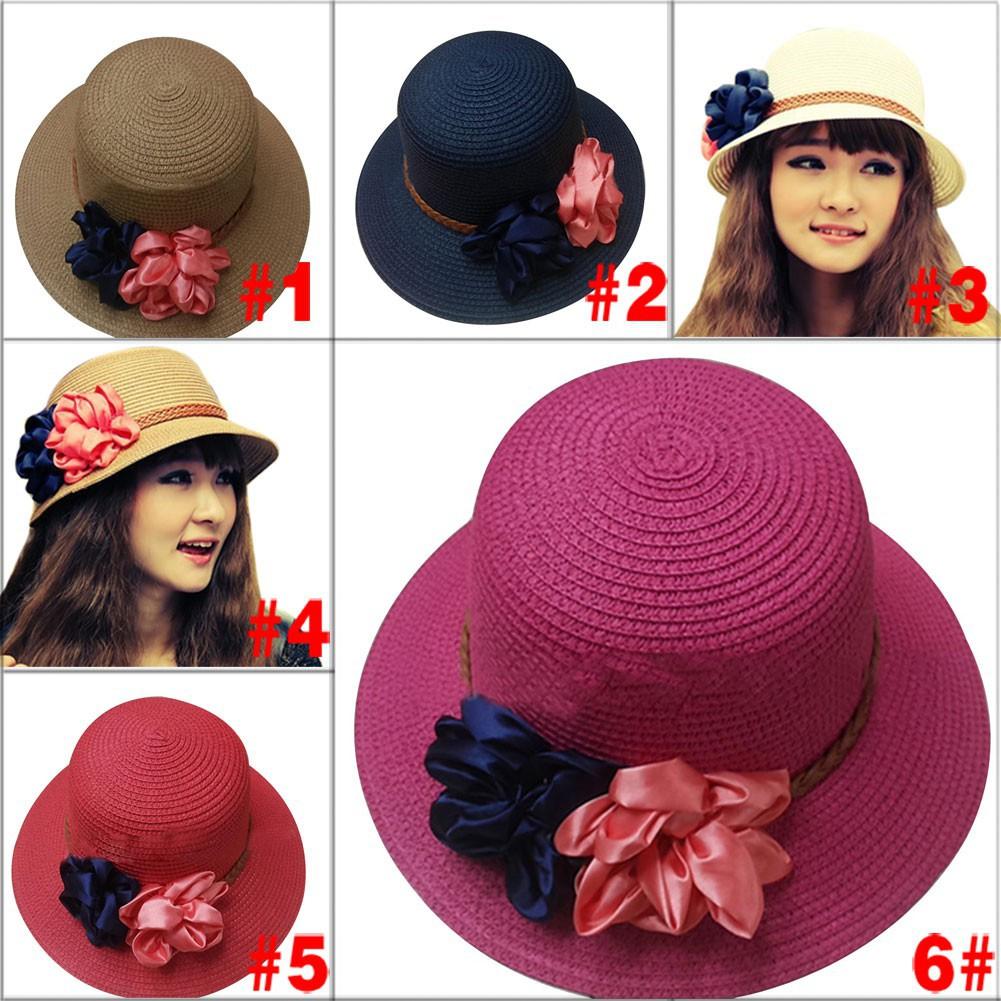 READY STOCK!Rose Flower Beanies Hat Chiffon Lace Headwear Hats ... 31802b2a16bd