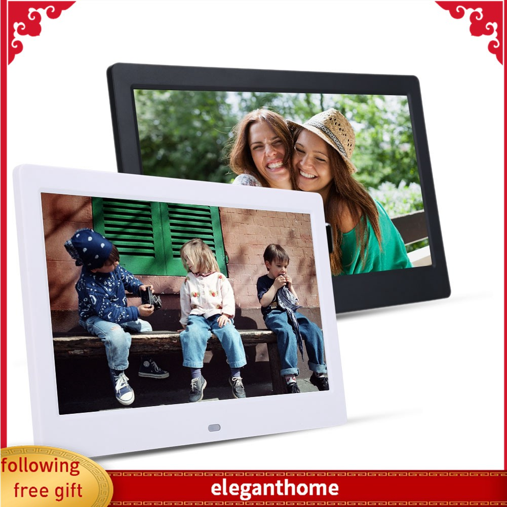 LoMe 15.4 Inch Digital Photo Frame,1280X800 HD Picture Electronic Photo Frame,MP3 Music Supports Multiple File Formats and External USB SD Memory,Black