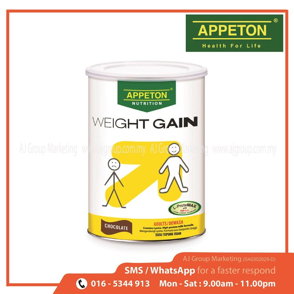Appeton Weight Gain Susu Rasa Cokelat 900gr Dewasaadults Daftar Dewasa Adults Cari Bandingkan Source
