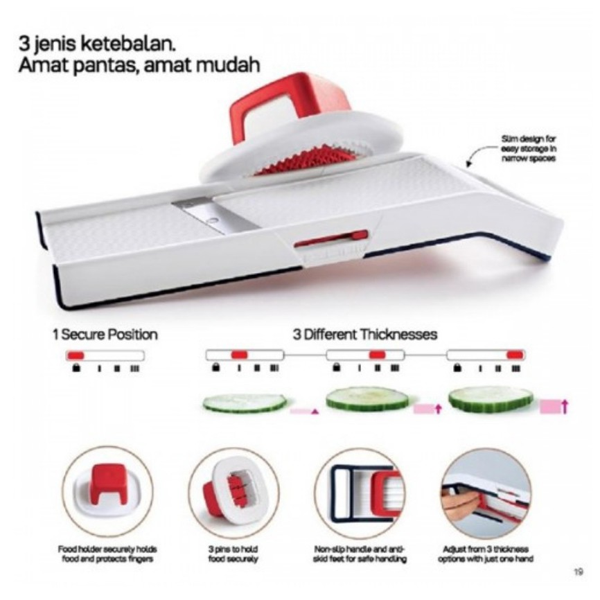 Tupperware Easy Mando Can Adjust For 3 Thickness