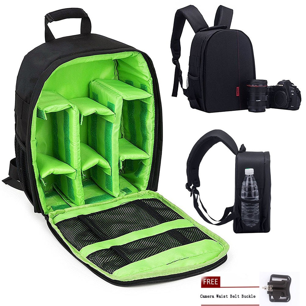 Camera Shockproof Backpack DSLR Hiking Camera Bag Waterproof With Belt Buckle