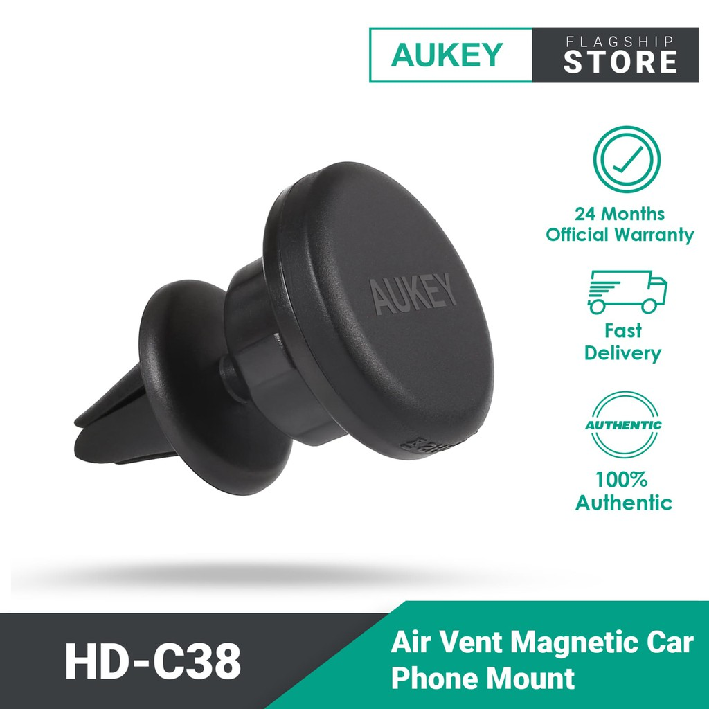 Aukey HD-C38 Air Vent Magnetic Car Phone Mount Holder