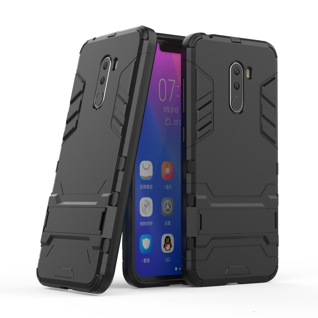 Bright 360 Full Case For Xiaomi Pocophone F1 Poco F1 3 In 1 Shockproof Hard Pc Case Back Cover For Xiaomi Pocophone Poco F 1 Phone Case For Fast Shipping Cellphones & Telecommunications