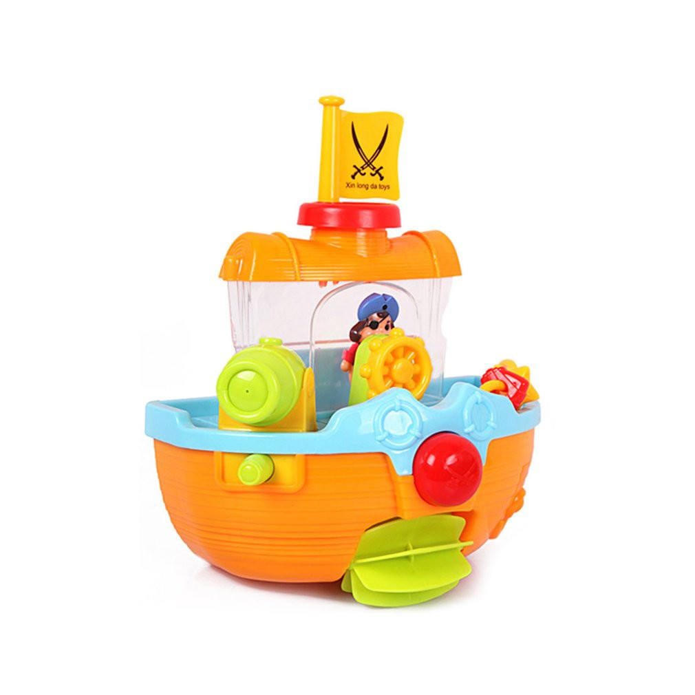 Bath Toy Pirate Boat for baby gift present 12m+