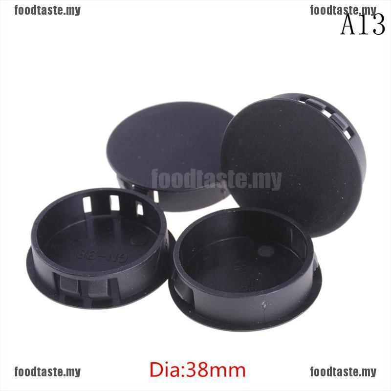 4pcs Tube Hole Plug Pipe End Cap Cover Head Plastic Locking Round Black Plastic