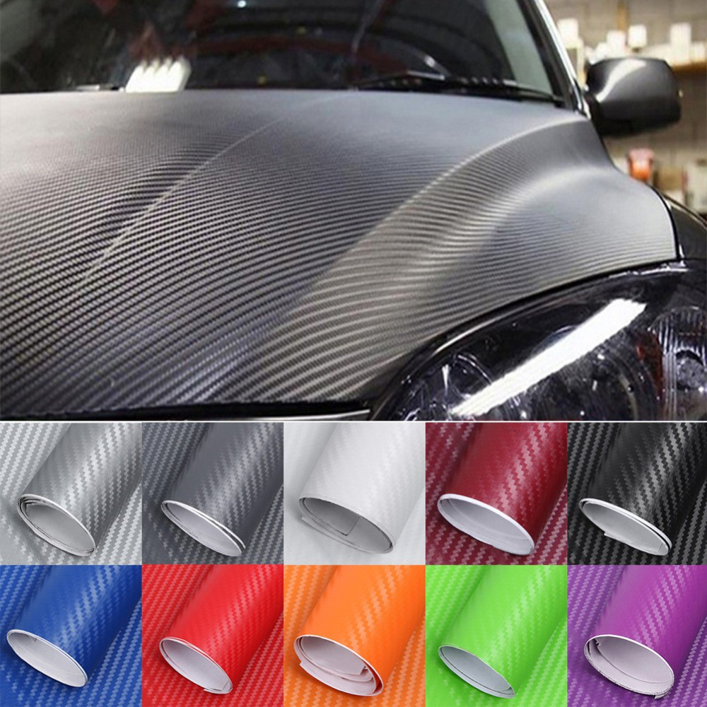a0b38114d8 3D Carbon Fiber Vinyl Car Wrap Film Car stickers Decals Motorcycle Car  Styling