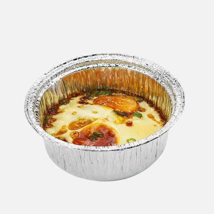 20PCS My Chef Foil Aluminum Food Grade Foil Tray | Baking Cake | BBQ One-off Stackable Heat Resistant with Cover 3379-P