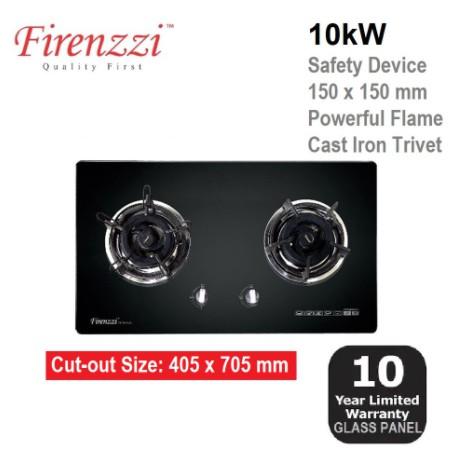 FIRENZZI 5.0 kW TEMPERED GLASS HOB FGH-8628