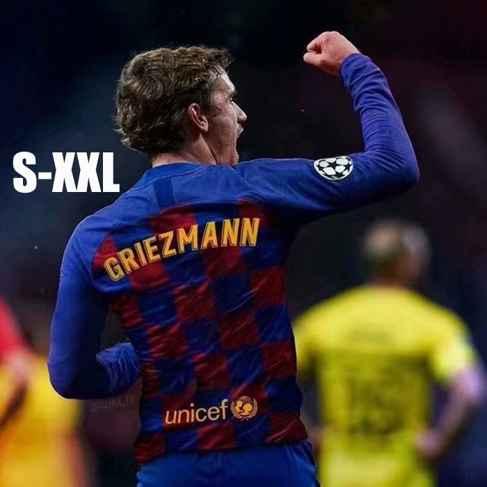 new product 44e5c 06fb7 Barcelona Antoine Griezmann NO17 Home and Away Long Sleeve Football Jersey  2019/20 Season Men Suits