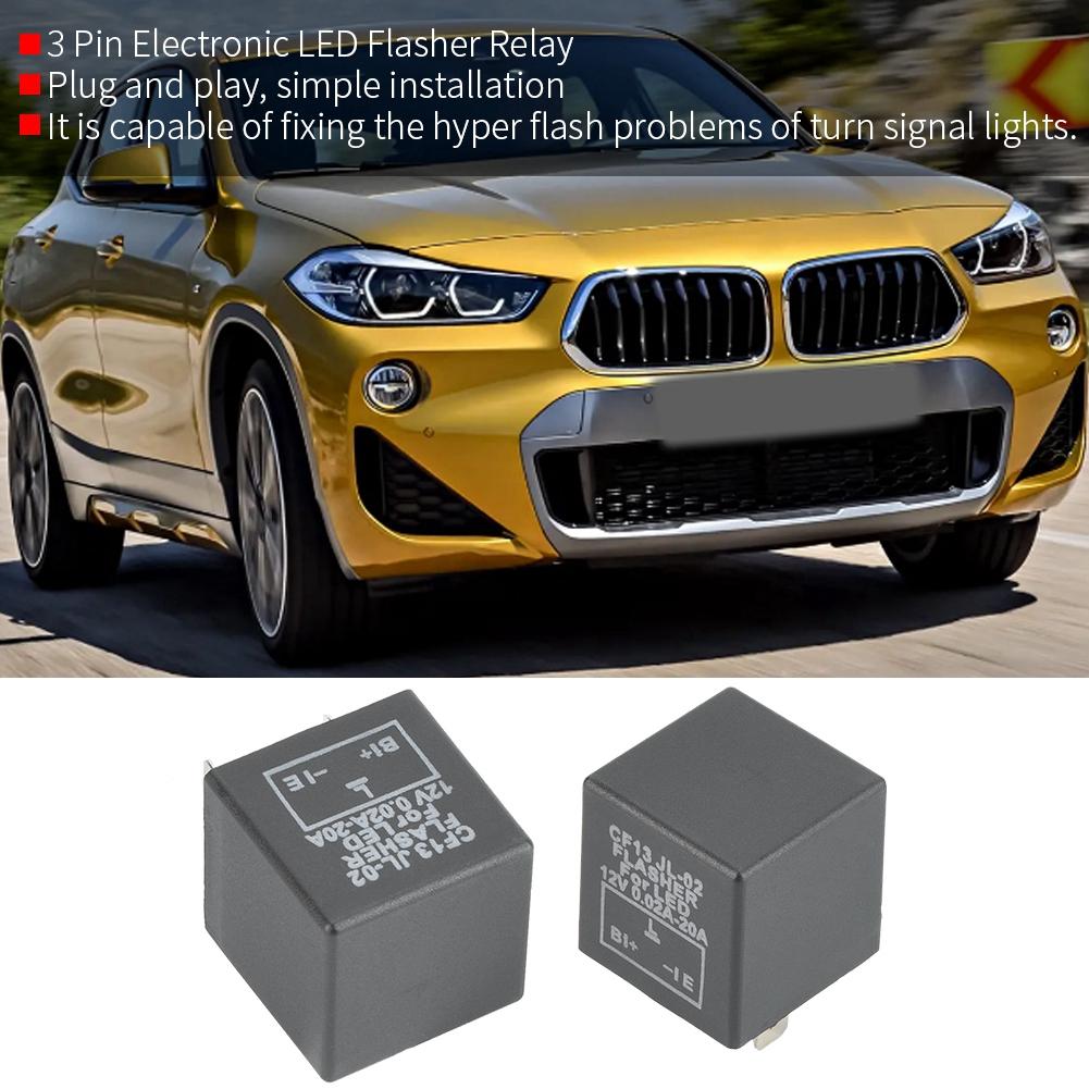 3Pin Electronic Car Flasher Relay CF13 JL-02 Fix LED Light Hyper Blinking 12V