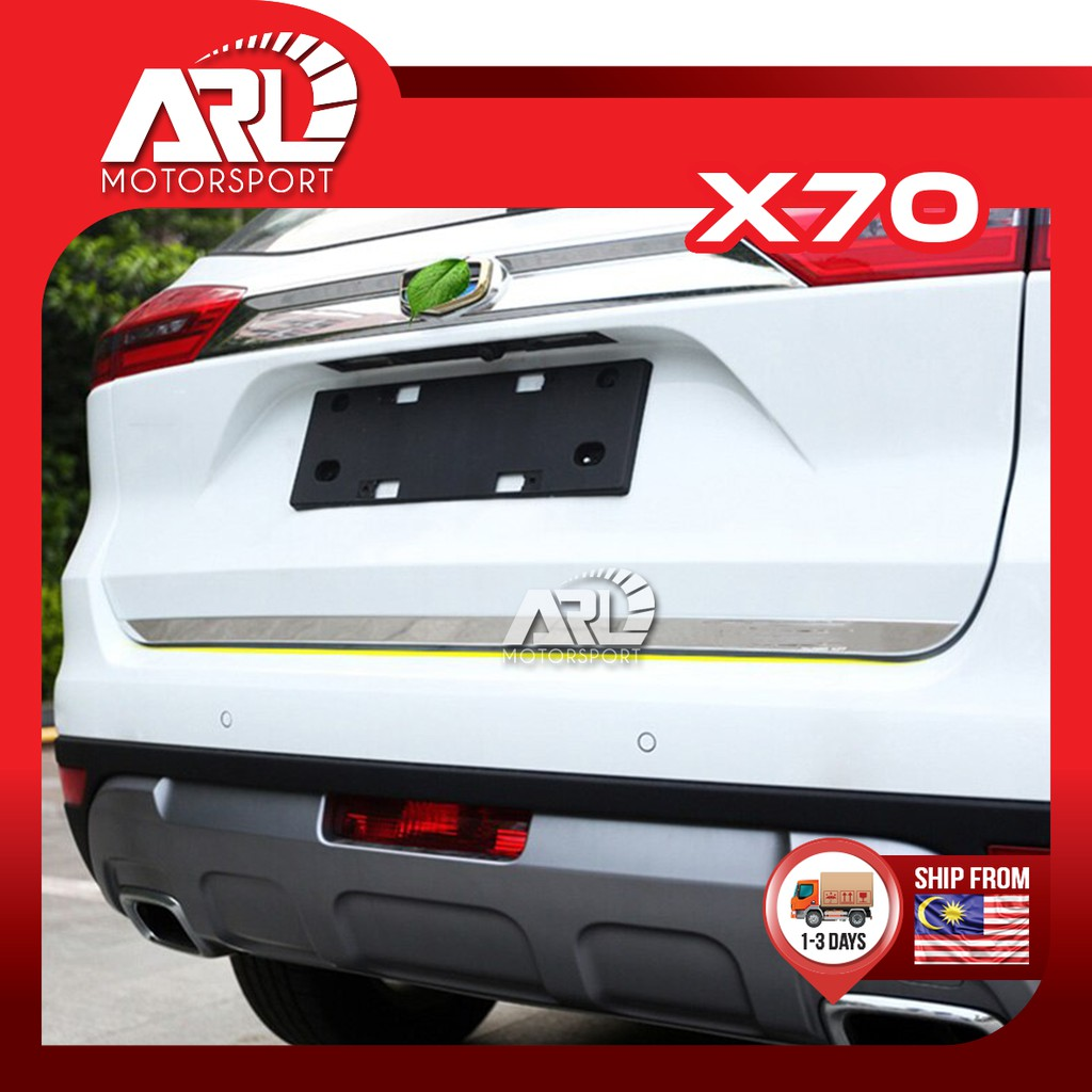 Proton X70 (2018-2020) Rear Bonnet Lining Tail Gate Lining Chrome Car Auto Acccessories ARL Motorsport