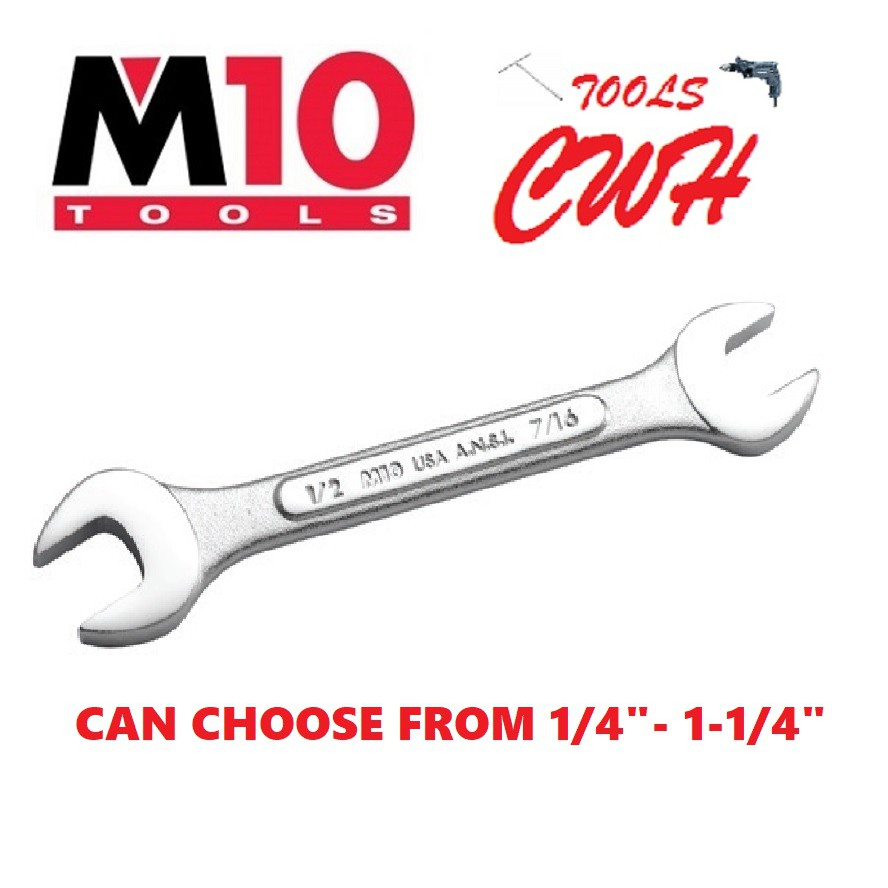 M10 SINGAPORE INCHES SIZE DOUBLE OPEN END WRENCH SPANNER