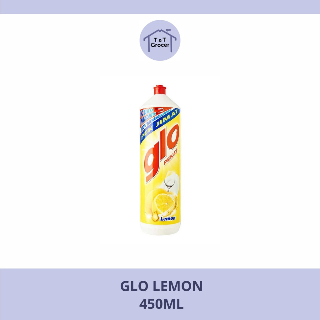 Glo Dishwashing Liquid 450ml (Lemon/ Lime)