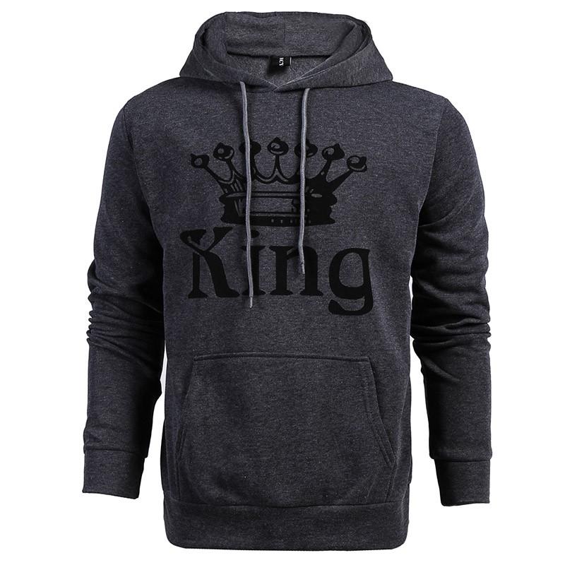 Liebhaber King und Queen Print Paar Hoodie passenden Sweatshirts Pullover