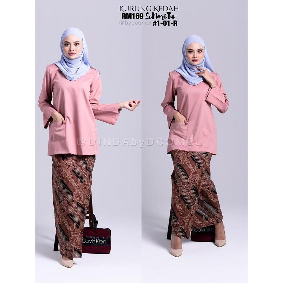 30 Ide Keren Baju Kurung Kedah Batik Poket Ling Chia Ying