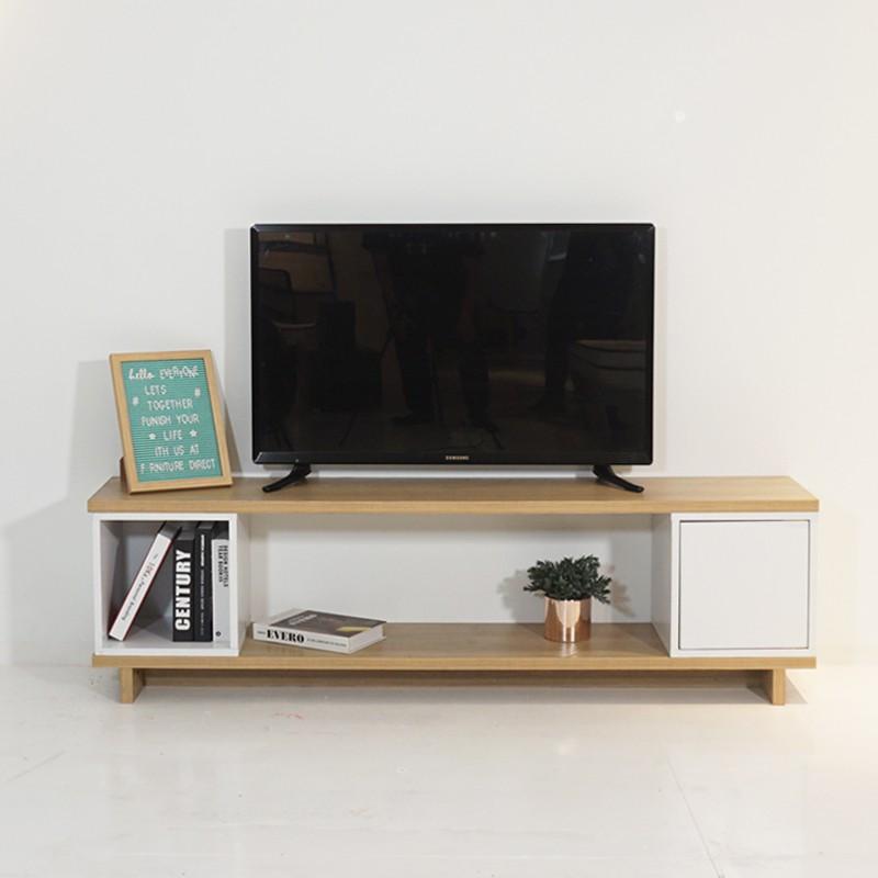 TAD Flexi II 4 and 5 feet Melamine surface TV console table TV cabinet/ Rak TV/ Rak TV kayu