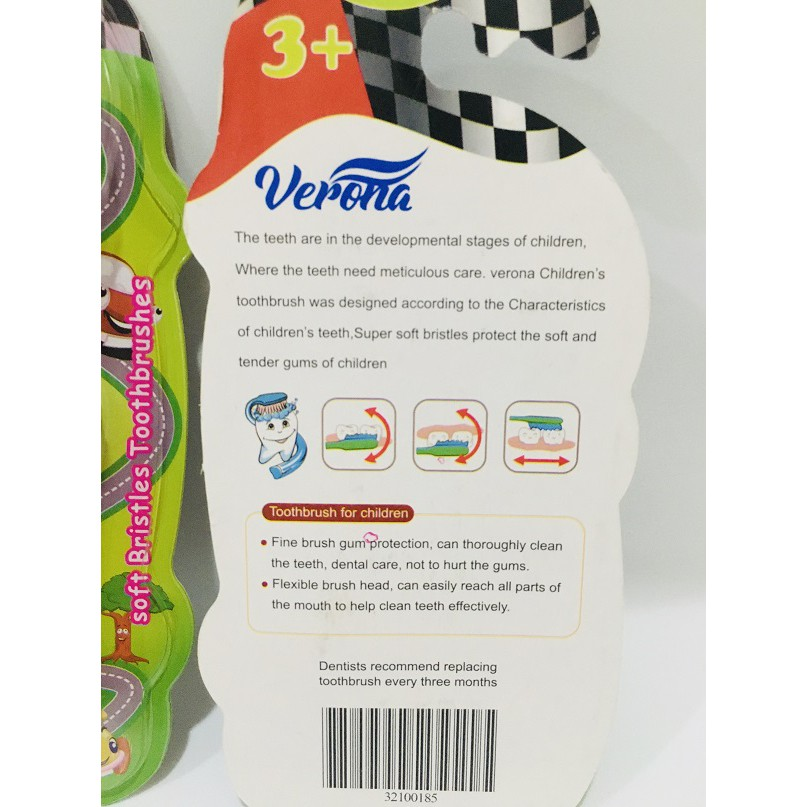 Verona Kids Tooth Brush with Toys Car/ Bee, Soft Bristles Toothbrushes