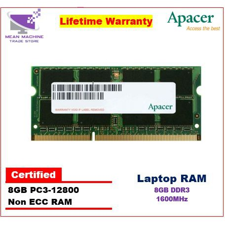 Apacer New 4gb 8gb 16gb Ddr4 2400mhz Non Ecc Laptop Ram Shopee