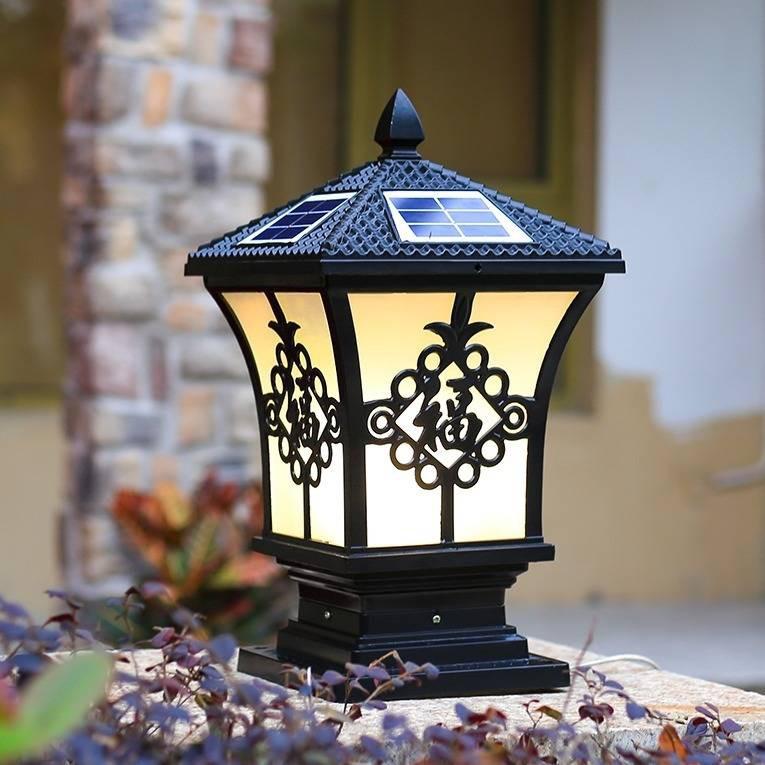 Lampu Solar Lampu Tiang Suria Lampu Pagar Luar Ruangan Tiang Lampu Dinding Halaman Baru Luar Desa Kalis Air Gaya Eropah Lampu Taman Halaman Shopee Malaysia