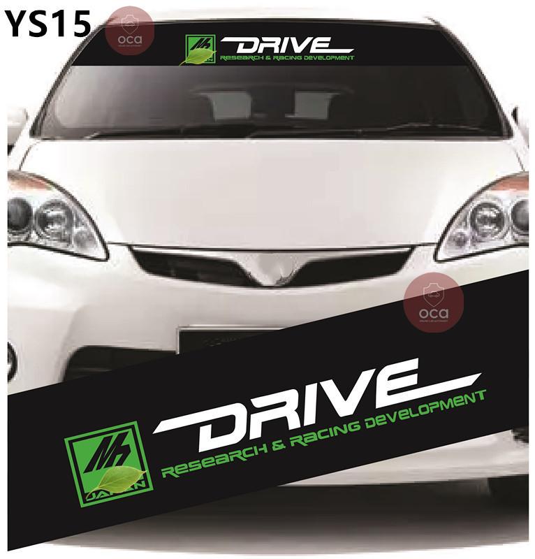 Universal Car Windscreen Sticker Front Or Rear Windscreen Windshield 10inch X 52inch YS10 - YS18