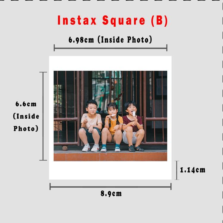 Lomo/Instax Square Photo Fujifilm Polaroid (Matt/Glossy)/8.9cmX8.9cm#special offer RM0.35-RM0.40#minimum 20pcs