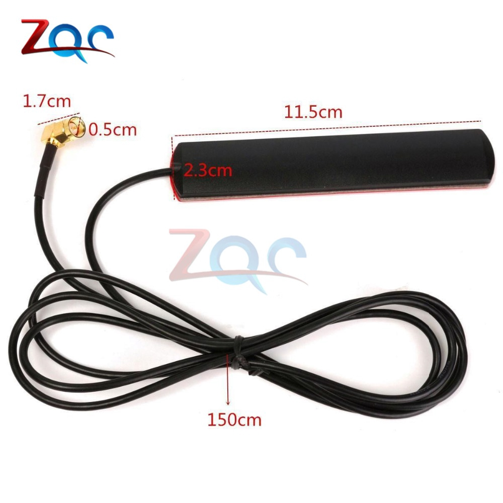 433 Mhz 2.5dbi Cable GSM GPRS Antenna 90° SMA Male Universal DAB Patch Aerial